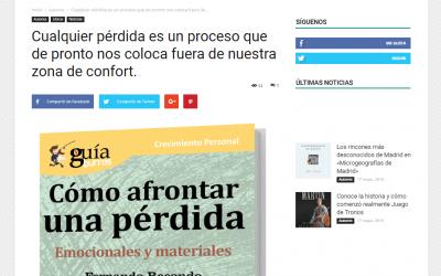 Aparición del «GuíaBurros: Cómo afrontar una pérdida» en el medio especializado Casa de Letras
